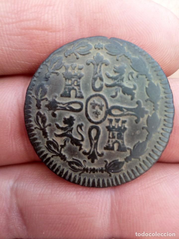 Monedas de España: 8 maravedís de Fernando 7 - Foto 2 - 273960228