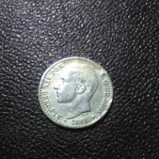 Monedas de España: MONEDA ALFONSO XII 1885 ,50 CNTIMOS ,ESTRELLA POR DETERMINAR ,PLATA. Lote 274816968