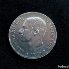 Moedas de Espanha: 5 PESETAS AÑO 1885, MBC (SIN FECHA EN ESTRELLAS). Lote 275072848