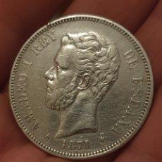 Monedas de España: 5 PESETAS 1871 *18 *71 MBC+. Lote 275341703