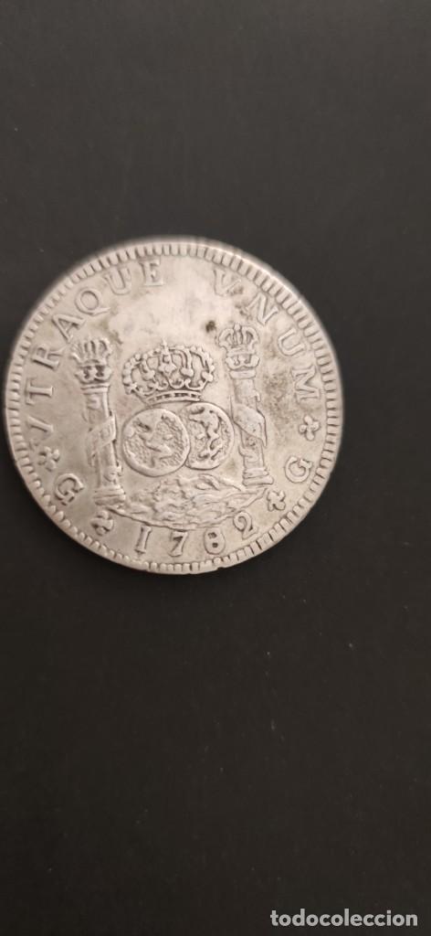 8 REALES COLUMNARIO 1.782 CARLOS III POTOSÍ PLATA. (Numismática - España Modernas y Contemporáneas - De Reyes Católicos (1.474) a Fernando VII (1.833))