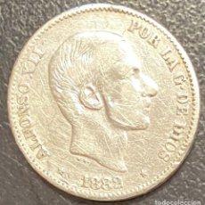 Monete da Spagna: ESPAÑA, FILIPINAS, MONEDA DE 50 CENTAVOS DE PESO, DEL AÑO 1882. Lote 275850583