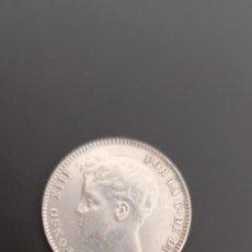 Monedas de España: MONEDA ANTIGUA PLATA.ALFONSO XIII.1 PESETA UNA.AÑO 1.899.ESTRELLA 99.MUY BONITA.. Lote 276001013