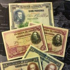 Monedas de España: LOTE DE 5 BILLETES. Lote 276139678