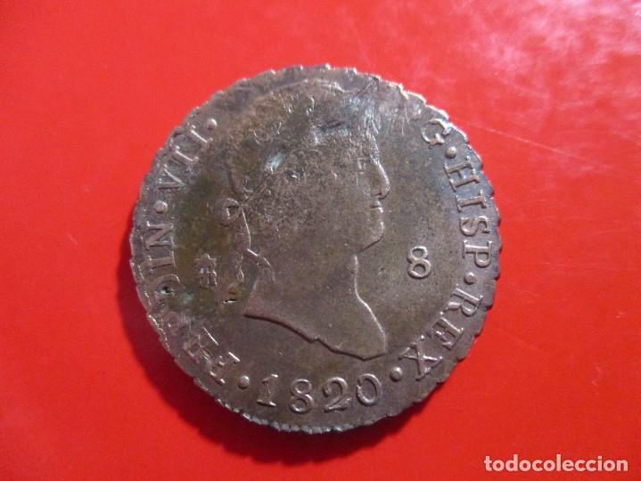 FERNANDO VII 8 MARAVEDIES1820 SEGOVIA (Numismática - España Modernas y Contemporáneas - De Reyes Católicos (1.474) a Fernando VII (1.833))