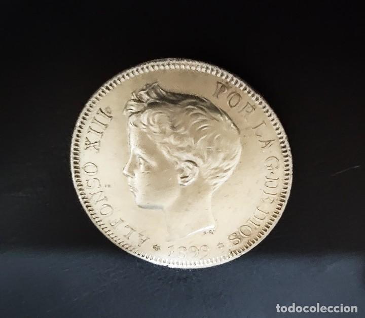 Monedas de España: DE COLECCION 5 pesetas plata 1899 SG.V *18* *99* - Alfonso XIII ¡¡¡¡¡LIQUIDACION !!! - Foto 4 - 276192288