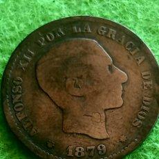 Monedas de España: CINCO CENTÍMOS DE 1879. ALFONSO XII. EN COBRE.. Lote 276637283