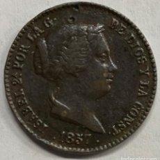 Monedas de España: ESPAÑA, ISABEL II, MONEDA DE 10 CÉNTIMOS DE REAL DEL AÑO 1857. Lote 276805268