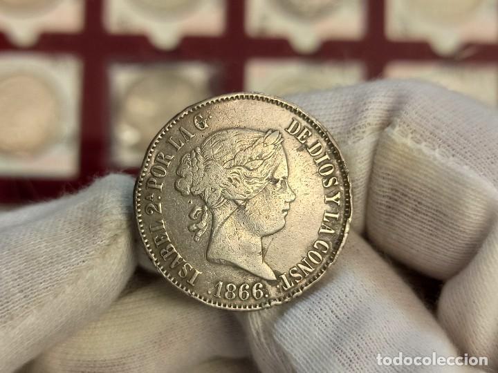 ESPAÑA ISABEL II - 1 ESCUDO 1866 MADRID KM 626.1 PLATA (Numismática - España Modernas y Contemporáneas - De Isabel II (1.834) a Alfonso XIII (1.931))