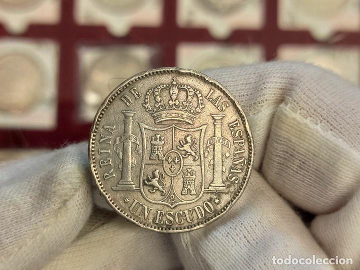 Monedas de España: España Isabel II - 1 Escudo 1866 Madrid Km 626.1 Plata - Foto 2 - 276911408