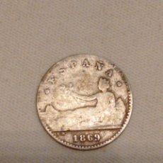 Monedas de España: MONEDA 50 CÉNTIMOS 1869 GOBIERNO PROVISIONAL ESTRELLAS MARCADAS. Lote 277033018