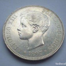 Monedas de España: 50SCF15 ESPAÑA ALFONSO XIII 5 PESETAS DE PLATA 1897 (18-97) SGV. Lote 277099833