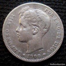 Monedas de España: 1 PESETA 1900 ALFONSO XIII -PLATA- REF.385. Lote 277163768