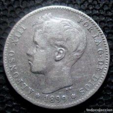 Monedas de España: 1 PESETA 1899 ALFONSO XIII -PLATA- REF.383. Lote 277165308