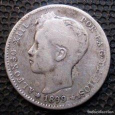 Monedas de España: 1 PESETA 1899 *18*-*--* ALFONSO XIII (3 FOTOS) -PLATA- REF.382. Lote 277165728