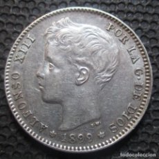 Monedas de España: 1 PESETA 1899 *18*-*99* ALFONSO XIII MBC+ (3 FOTOS) -PLATA- REF.379. Lote 277166273