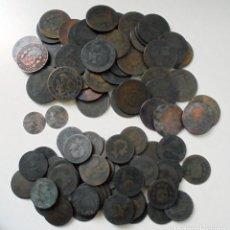 Monedas de España: LOTE DE MONEDAS DE COBRE. ALFONSO XII Y I REPUBLICA. Lote 277174333