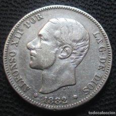 Monedas de España: 2 PESETAS 1882 *18*-*--* ALFONSO XII (3 FOTOS) -PLATA- REF.346. Lote 277516118