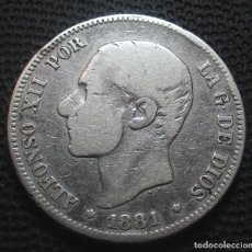 Monedas de España: 2 PESETAS 1881 ALFONSO XII -PLATA- REF.345. Lote 277516333