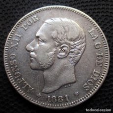 Monedas de España: 2 PESETAS 1881 *18*-*81* ALFONSO XII -PLATA- REF.344. Lote 277517388