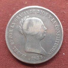 Monedas de España: 20 REALES DE PLATA DE 1854. Lote 277526173