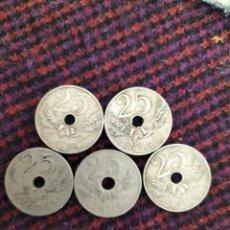 Monedas de España: LOTE 5 MONEDAS 25 CENTIMOS 1927. Lote 277613658
