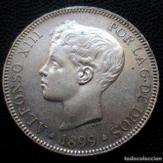 Monedas de España: 5 PESETAS 1899 *18*-*99* SGV MBC+ - ALFONSO XIII (3 FOTOS) -PLATA- REF.250. Lote 277618778