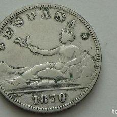 Monedas de España: GOBIERNO PROVISIONAL 2 PESETAS 1870 * 73 BONITAS ESTRELLAS. (M88). Lote 277625478