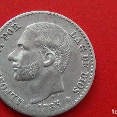 Monedas de España: ALFONSO XII 50 CENTIMOS 1885 *86 MBC+. (M92). Lote 277628928