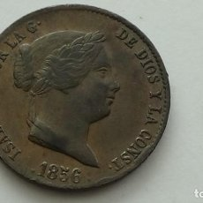 Monedas de España: ISABEL II - 25 CENTIMOS DE REAL 1856 SEGOVIA EBC. ESTUPENDA MONEDA. (M87). Lote 277632708