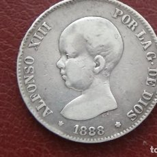 Monedas de España: ALFONSO XIII 5 PESETAS 1.888 *18-88. BONITA PIEZA. (M49). Lote 277635763