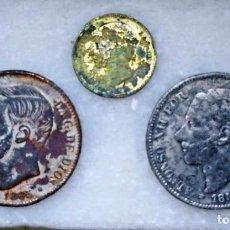 Monedas de España: LOTE DE 5 PESETAS Y 1 PESETAS.FALSOS DE EPOCA. Lote 277644793