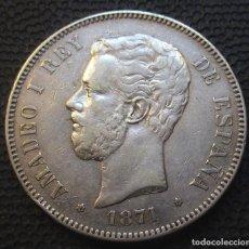 Monedas de España: 5 PESETAS 1871 *18*-*74* DEM - AMADEO I (3 FOTOS) -PLATA- REF.213. Lote 278232103