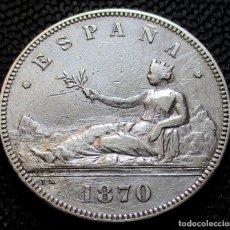 Monedas de España: 5 PESETAS 1870 *18*-*70-* - GOBIERNO PROV. (4 FOTOS) -PLATA- REF.209. Lote 278233808