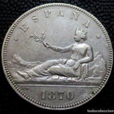 Monedas de España: 5 PESETAS 1870 *18*-*70-* - GOBIERNO PROV. (4 FOTOS) -PLATA- REF.206. Lote 278234653