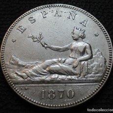 Monedas de España: 5 PESETAS 1870 *-8*-*7--* - GOBIERNO PROV. (4 FOTOS) -PLATA- REF.203. Lote 278235353