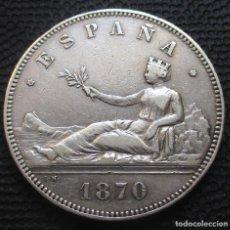 Monedas de España: 5 PESETAS 1870 *18*-*70-* - GOBIERNO PROV. (4 FOTOS) -PLATA- REF.202. Lote 278235563