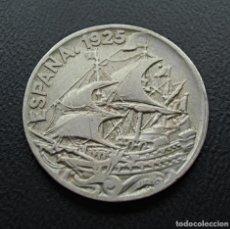 """Monedas de España: ALFONSO XIII, GALEÓN, 25 CENTIMOS 1925 """"ESCASA CON ESTA CONSERVACIÓN"""". Lote 278274803"""