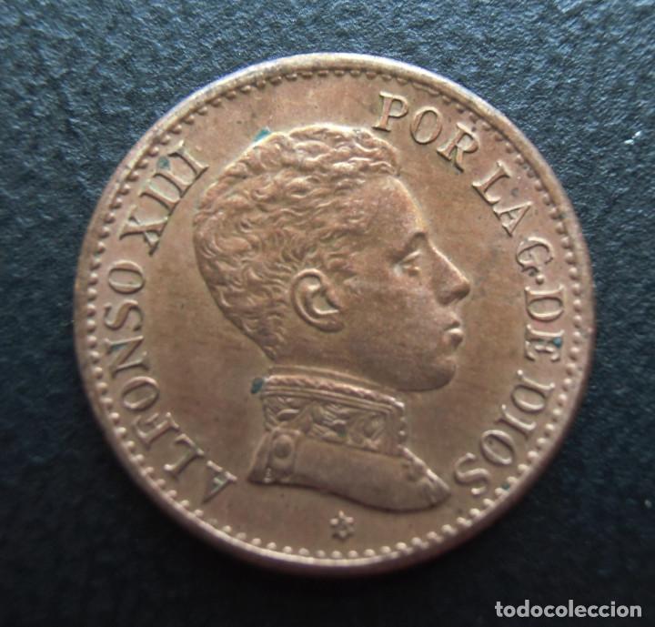 ALFONSO XIII, 1 CENTIMO 1906 SL-V, ESTRELLA 6 (Numismática - España Modernas y Contemporáneas - De Isabel II (1.834) a Alfonso XIII (1.931))