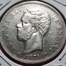 Monedas de España: 5 PESETAS AMADEO I AÑO 1871 74* DEM 25 GR. DE PLATA. Lote 278316368