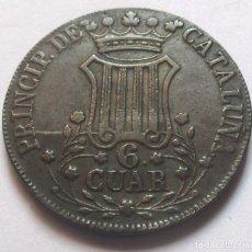 Monedas de España: 6 CUARTOS 1845 CATALUÑA - ISABEL II (BUEN EJEMPLAR) - COBRE-. Lote 278325753