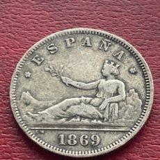 Monedas de España: 2 PESETAS 1869 *69 GOBIERNO PROVISIONAL PLATA. Lote 278551268