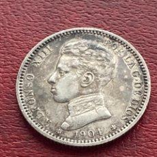 Monedas de España: 1 PESETA 1904 *04 ALFONSO XIII PLATA. Lote 278552048