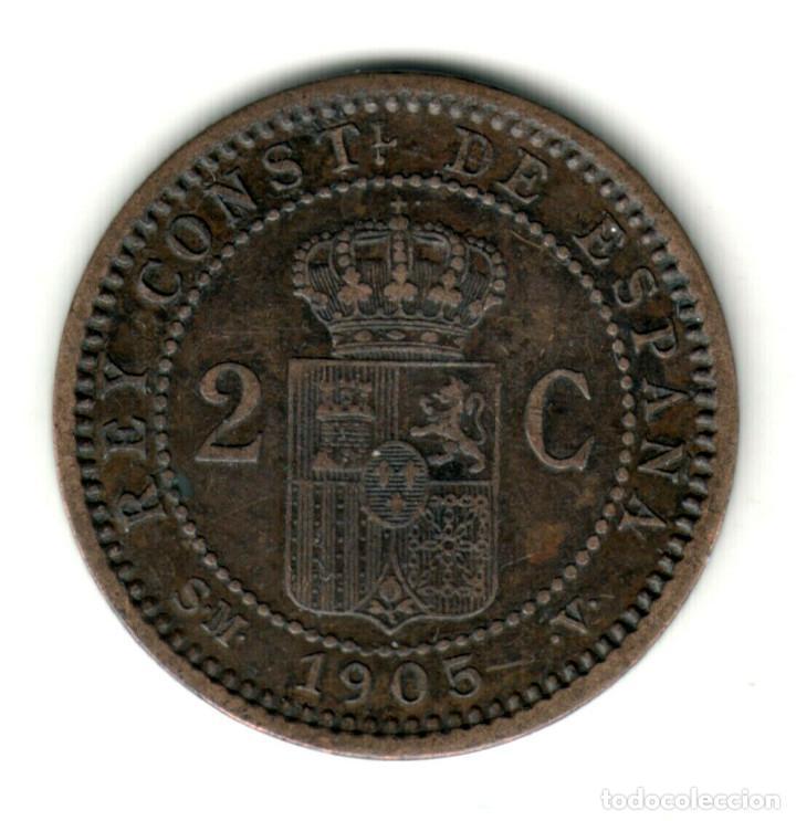 Monedas de España: ESPAÑA 2 Centimos 1912 *12* PC.V. Rey Alfonso XIII ceca Madrid - Foto 2 - 278552613