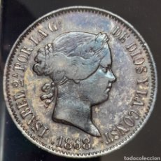 Monedas de España: ESPAÑA, FILIPINAS, IZABEL II (1833-1868)50 CENTIMOS DE PESO 1868 MADRID. Lote 278689743