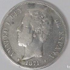 Monedas de España: AMADEO I 5 PESETAS PLATA 1871 * 71 SDM. Lote 278833203