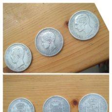 Monedas de España: 3 MONEDAS DE PLATA , DESCONOZCO EL PRECIO HAGA SU OFERTA AMADEO 1871 ALOFONSO XII 1898 Y 1878. Lote 278923518