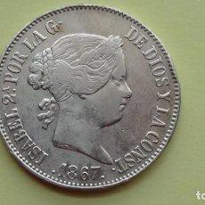 Monedas de España: ISABEL II - 1 ESCUDO 1867 MADRID MBC++. (M55). Lote 279572613