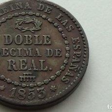 Monedas de España: ISABEL II - DOBLE DECIMA DE REAL1853 EBC. OJO ... MUY ESCASA. (M85). Lote 279572943