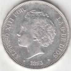 Monedas de España: ALFONSO XIII: 5 PESETAS 1893 PGL ESTRELLAS 18-93 / PLATA. Lote 279576253